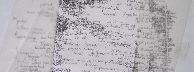 Marges ecritures sur papier et calques 2009